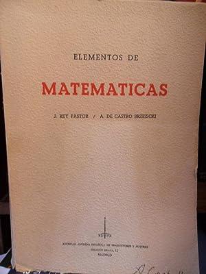 ELEMENTOS DE MATEMÁTICAS: J. REY PASTOR