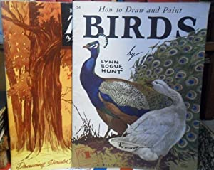 HOW TO DRAW TREES 3 + HOW TO DRAW AND PAINT BIRDS 54 (2 libros)