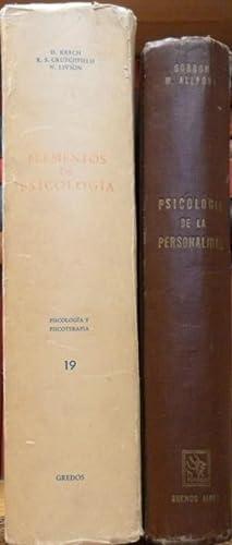 Elementos de psicología+ Psicología de la personalidad: David KRECH, Richard