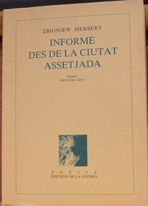 INFORME DES DE LA CIUTAT ASSETJADA: ZBIGNIEW HERBERT