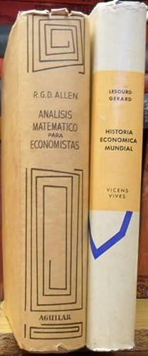ANALISIS MATEMATICO PARA ECONOMISTAS + HISTORIA ECONOMICA: R. G. D.
