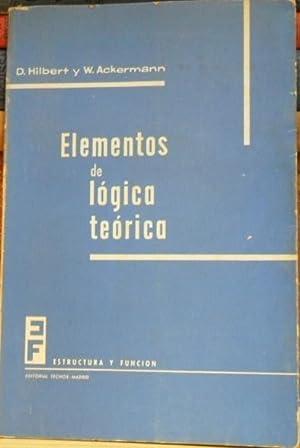 Elementos de lógica teórica: D. Hilbert y W. Ackermann