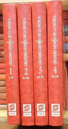 GRANDES GENIOS DE LA MÚSICA - DICCIONARIO ENCICLOPÉDICO (4 volúmenes)