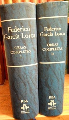 OBRAS COMPLETAS ( Tomo I - Tomo II): FEDERICO GARCÍA LORCA