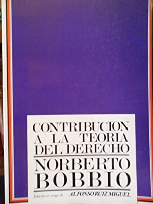 CONTRIBUCIÓN A LA TEORÍA DEL DERECHO: NORBERTO BOBBIO