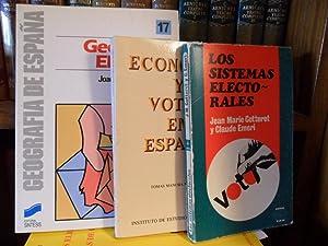 GEOGRAFÍA ELECTORAL + ECONOMÍA Y VOTOS EN: JOAQUÍN BOSQUE SENDRA