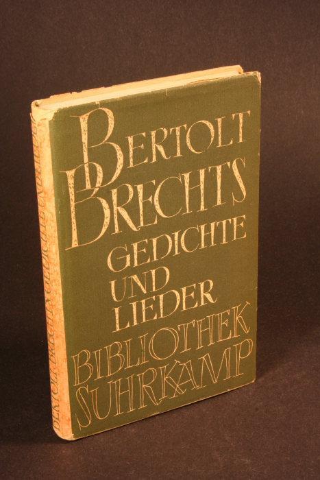 Bertolt Brechts Gedichte und Lieder: Brecht, Bertolt, 1898-1956