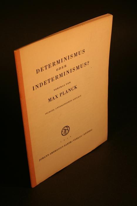 determinismus oder indeterminismus von max planck zvab. Black Bedroom Furniture Sets. Home Design Ideas