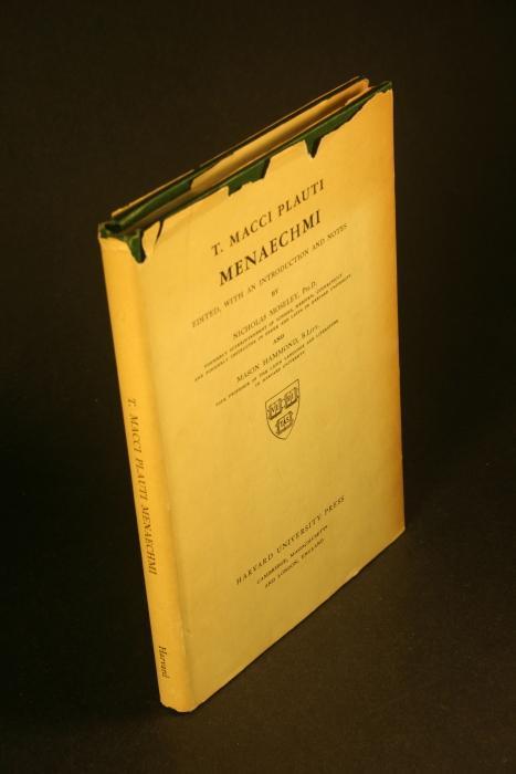 T. Macci Plauti : Menaechmi.: Plautus, Titus Maccius