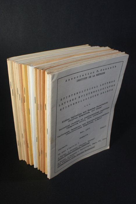 Epistemological letters. Lettres épistémologiques. 18 issues.: Association F. Gonseth
