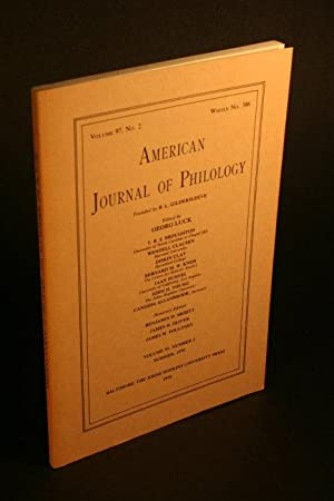 American journal of philology, volume 97, no.: Luck, Georg, ed.
