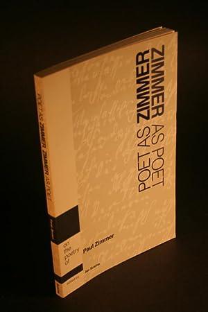 Poet as Zimmer, Zimmer as poet. On the poetry of Paul Zimmer.: Susina, Jan