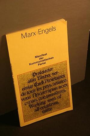 Manifest der Kommunistischen Partei.: Marx, Karl, 1818-1883