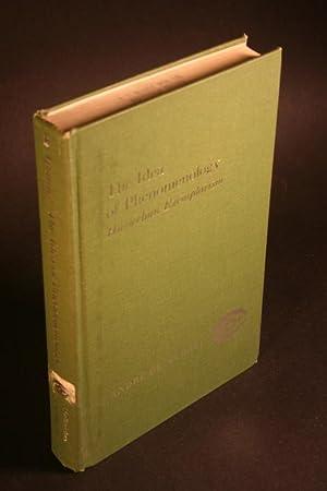The idea of phenomenology : Husserlian exemplarism.: Muralt, André de,
