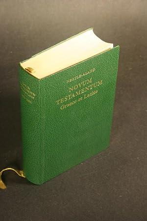Novum Testamentum Graece et Latine.: Nestle, Eberhard, 1851-1913,