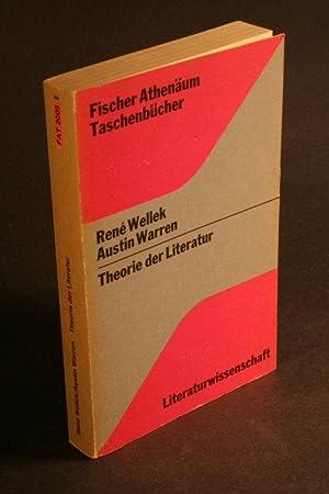 Theorie der Literatur.: Wellek, René / Warren, Austin