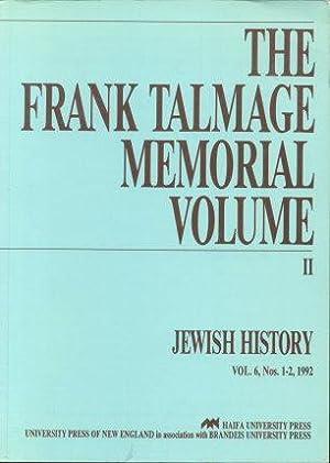 Jewish History Vol. 6, Nos. 1-2. The: Walfish, Barry, ed.