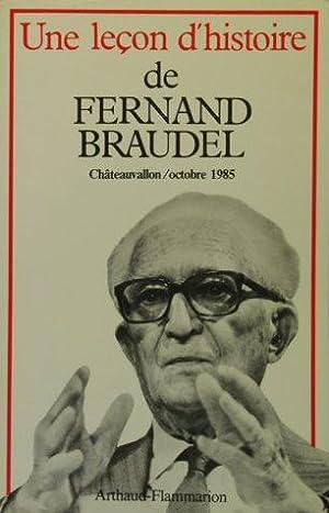 Une leçon d'histoire de Fernand Braudel : Châteauvallon, Journées Fernand ...