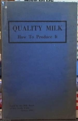 quality milk: how to produce it