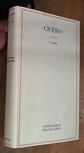 Select Orations of Cicero. The Four Orations: Cicero, Marcus Tullius