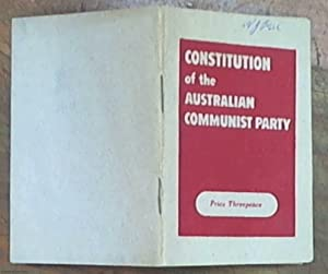 Constitution of the Australian Communist Party : adopted by the 15th National Congress of the Aus...