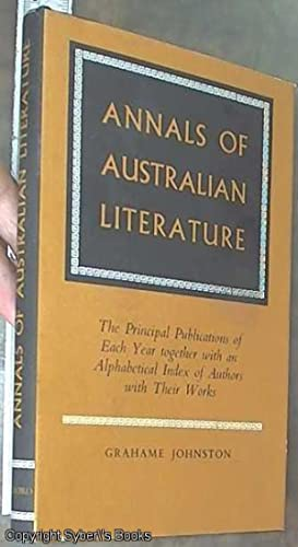 Annals of Australian Literature