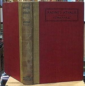 Athalie; Tragedie Tiree De L'ecriture Sainte (edited: Racine, Jean