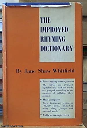 The Improved Rhyming Dictionary The Improved Rhyming: Whitfield, Jane Shaw