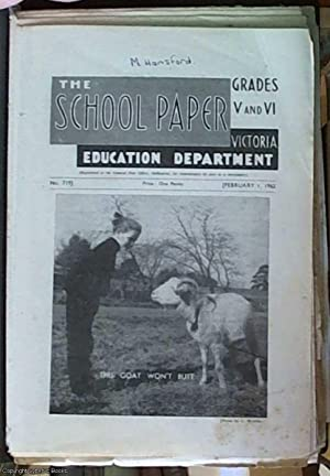 The School Paper Grades V and VI 1962 nos 719, 720, 721, 722,723, 724, 725, 726, 727, 728, 729 including index