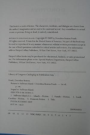 Return to Sullivans Island (Signed): Frank, Dorothea Benton