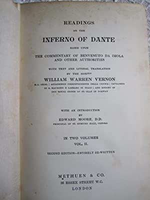 Readings on the Inferno of Dante, Vol. II (SIGNED): Vernon, W.W.