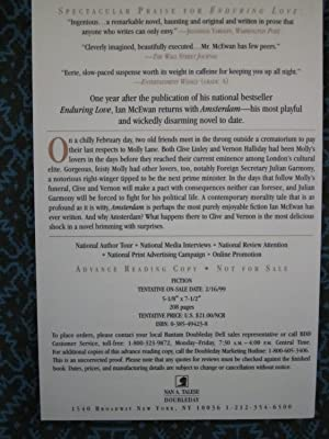 Amsterdam [ARC]: McEwan, Ian;Bantam Doubleday Dell Pubt Doubleday