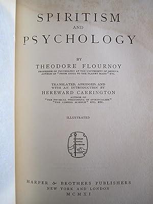 Spiritism and Psychology: Flournoy, Theodore