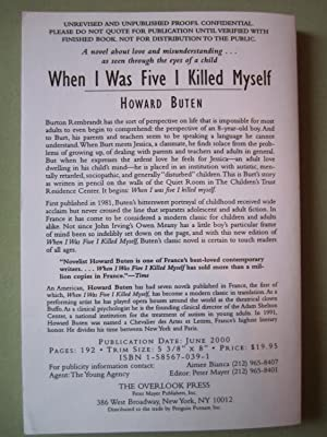 When I Was Five I Killed Myself [ARC]: Buten, Howard