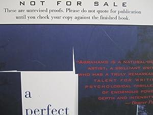 A Perfect Crime [ARC]: Abrahams, Peter
