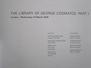 Sotheby's Auction Catalogue for The Library of George Cosmatos: Part I
