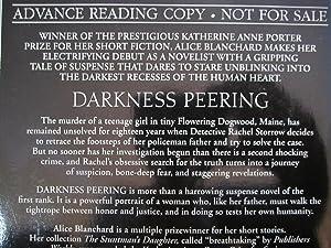 Darkness Peering [ARC]: Blanchard, Alice