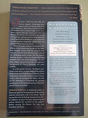 The Phoenix: A Novel About the Hindenburg [ARC]: Boetius, Henning;Cullen, John