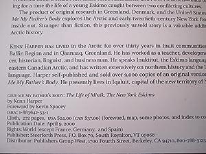 Give Me My Father's Body: The Life of Minik, the New York Eskimo [ARC]: Harper, Kenn