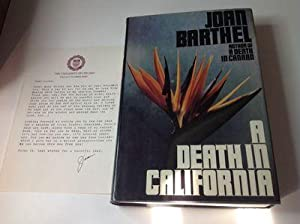 A Death in California-Signed & Inscribed Association copy with TLS