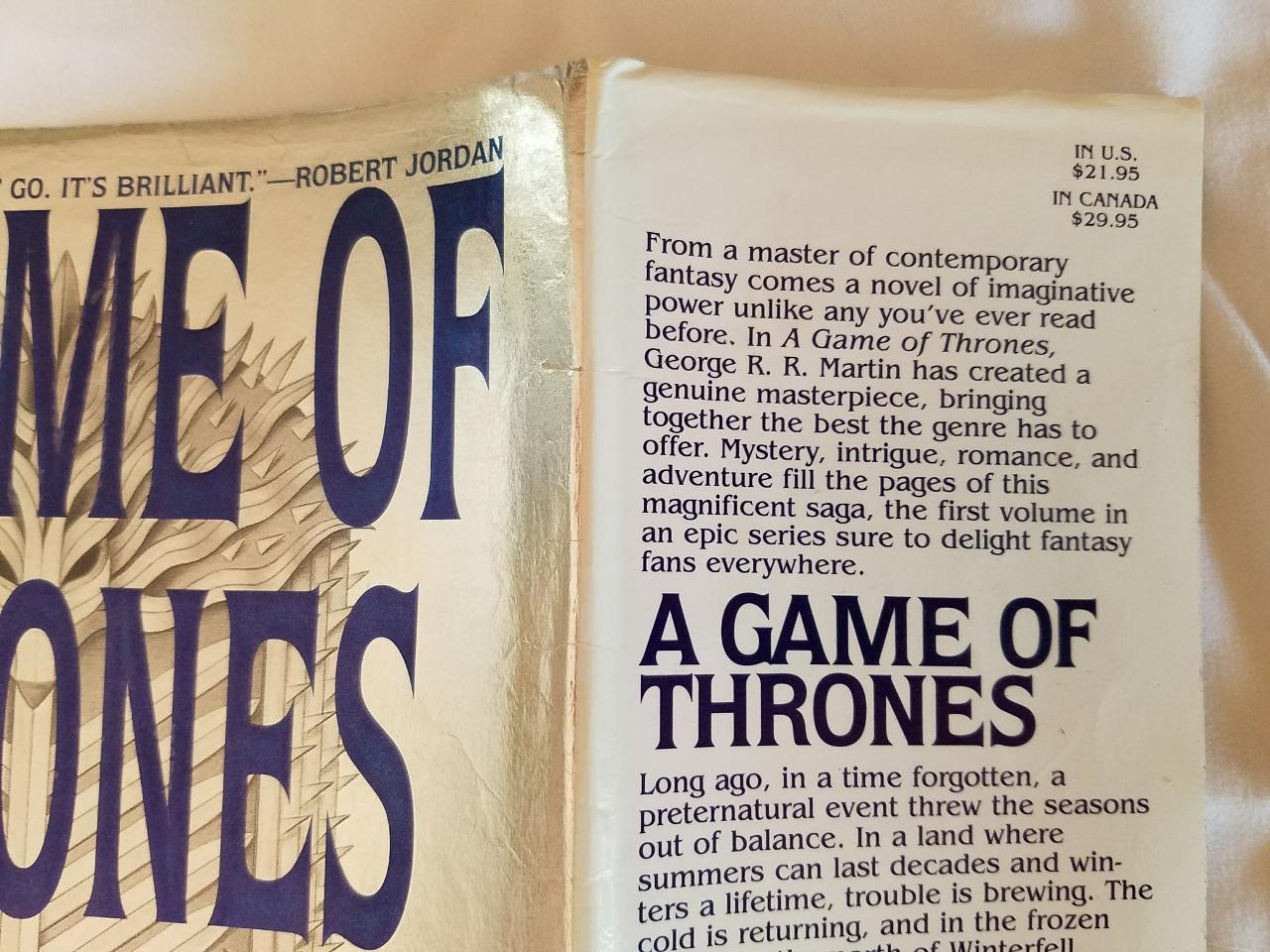 A Game of Thrones Book One of A Song of Ice