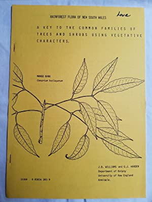 Rainforest Flora of New South Wales : A Key to the Common Families of Trees and Shrubs Using Vege...