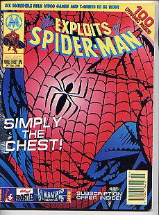 THE EXPLOITS OF SPIDER-MAN NO 29(14TH DECEMBER 1994) DAVID LEACH(EDITOR) Very Good Softcover
