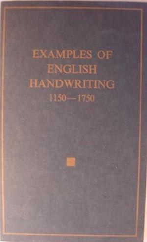 Examples of English Handwriting 1150-1750: Grieve, Hilda E
