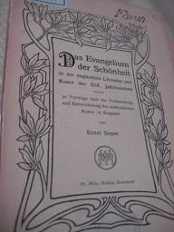 Das Evangelium der Schönheit in der englischen: Sieper, Ernst: