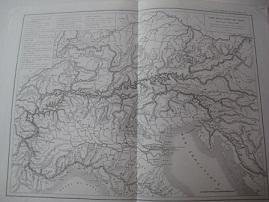 Carte De La Chaine Des Alpes Dussieux L