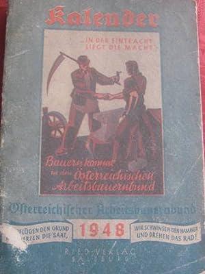 Österreichischer Arbeitsbauernbundkalender 1948