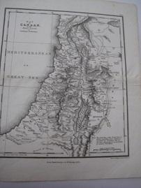 map of Canaan or The Holy Land