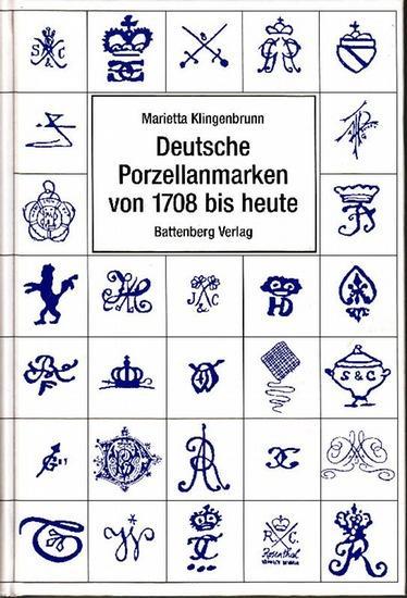 marietta klingenbrunn deutsche porzellanmarken von 1708 zvab. Black Bedroom Furniture Sets. Home Design Ideas