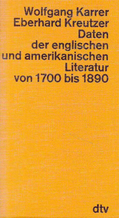 Daten der englischen und amerikanischen Literatur von: Karrer, Wolfgang; Eberhard